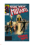 The New Mutants No.4 Cover: Sunspot, Cannonball, Magik, Magma, Wolfsbane and New Mutants Plastic Sign by Bill Sienkiewicz