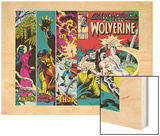 Marvel Comics Presents No.4 Cover: Wolverine, Razorfist, Marvel Babies and Spider-Man Fighting Wood Print by John Buscema