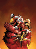 Uncanny X-Men No.542: Colossus, Magik, and Kitty Pryde Plastic Sign by Greg Land