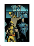 X-Men: Prelude To Schism No.4: Panles with Wolverine and Cyclops Standing Plastic Sign by Clay Mann