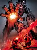 X-Men: Schism No.4: Sentinel, Cyclops, and Wolverine Fighting Signe en plastique rigide par Alan Davis