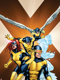 X-Men: First Class No.15 Cover: Cyclops, Marvel Girl, Beast, Iceman and Angel Wall Decal by Carlo Pagulayan