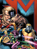Exiles No.69 Cover: Sabretooth, Blink, Mimic, Morph and Exiles Plastic Sign by Paul Pelletier