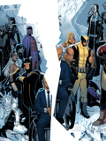 X-Men: Regenesis No.1 Cover: Professor X, Storm, Cyclops, Iceman, Wolverine, Magneto and Others Plastskylt av Chris Bachalo