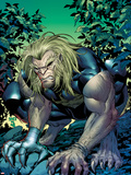 X-Men Forever 2 No.14 Cover: Sabretooth Crouching Plastic Sign by Tom Grummett