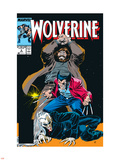 Wolverine No.6 Cover: Wolverine, Roughouse and Bloodsport Wall Decal by John Buscema