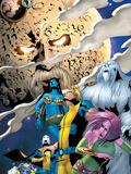 Exiles No.53 Cover: Blink, Sasquatch, Namora, Mimic, Morph, Beak, Exiles and Ego the Living Planet Poster by Mizuki Sakakibara