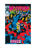 Wolverine No.7 Cover: Wolverine, Hulk and Karma Wall Decal by John Buscema