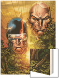 X-Men: Legacy No.215 Cover: Cyclops, Xavier and Charles Wood Print by Ken Lashley