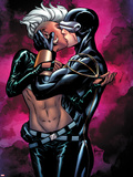 Astonishing X-Men No.44 Cover: Storm and Cyclops Kissing Plastic Sign by Mike McKone
