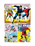 X-Men No.43 Group: Cyclops, Beast, Angel, Iceman, Magneto, X-Men and Marvel Girl Plastic Sign by George Tuska