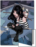 X-23 No.1 Cover: X-23 Kneeling Prints by Danni Luo