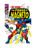 X-Men No.43 Cover: Magneto, Angel, Beast, Cyclops, Iceman, Grey, Jean, X-Men and Marvel Girl Wall Decal by George Tuska