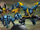 X-Men Evolutions No.1: Beast Plastic Sign by Lee Weeks