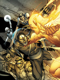 Daken: Dark Wolverine No.4 Cover: Daken, Thing, Human Torch, Mr. Fantastic, and Invisible Woman Art by Giuseppe Camuncoli