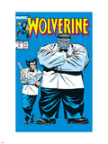 Wolverine No.8 Cover: Wolverine and Hulk Plastic Sign by Rob Liefeld