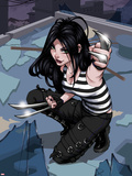 X-23 No.1 Cover: X-23 Kneeling Plastic Sign by Danni Luo