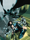 Uncanny X-Force No.1 Cover: Wolverine, Psylocke, Deadpool, Fantomax, and Archangel Posing Plastic Sign by Esad Ribic