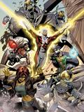 Alpha Flight No.4: Guardian, Marina, Puck, and Shaman Wall Decal by Dale Eaglesham