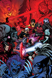 Wolverine and the X-Men 37 Cover: Wolverine, Raze, Beast, Xorn, Kymera, Deadpool, Kid Omega Plastic Sign by Ed McGuinness