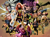 Uncanny X-Men No.544: Dark Phoenix, White Queen, Apocalypse, Sentinel, Magneto, Storm, Wolverine Plastic Sign by Greg Land