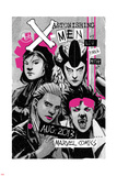 Astonishing X-Men 66 Cover: Jubilee, Warbird, Karma, Reyes, Cecilia Plastic Sign by Amilcar Pinna