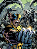Wolverine: The Best There is No.10 Cover: Wolverine Screaming and Fighting Plastic Sign by Bryan Hitch