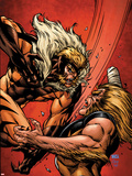 X-Men Forever 2 No.7 Cover: Sabretooth Fighting Plastic Sign by Tom Grummett