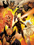 Astonishing X-Men No.35: Storm, Cyclops, Armor, Beast, Wolverine, Frost Plastic Sign by Phil Jimenez