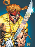 X-Force No.2 Cover: Shatterstar Plastic Sign by Rob Liefeld