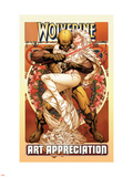 Wolverine Art Appreciation One-Shot Canvas Cover Cover: Wolverine and Emma Frost Plastic Sign by Joe Quesada