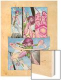 Exiles No.52 Cover: Blink Fighting and Flying Wood Print by Mizuki Sakakibara