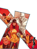 Uncanny X-Men No.544 Cover: Marvel Girl, Iceman, Cyclops, Beast, and Angel Wall Decal by Greg Land