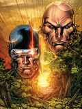 X-Men: Legacy No.215 Cover: Cyclops, Xavier and Charles Plastic Sign by Ken Lashley