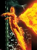 Ultimate X-Men No.2 Cover: The Human Torch Flying Wall Decal by Kaare Andrews