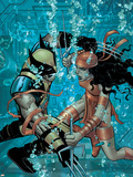 Wolverine No.21 Cover: Wolverine and Elektra Plastic Sign by John Romita Jr.