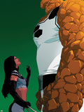 X-23 No.14 Cover: X-23 and Thing Standing Plastic Sign by Kalman Andrasofszky