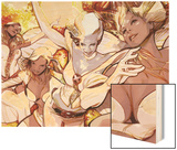X-Men Evolutions No.1: Emma Frost Wood Print by Greg Tocchini