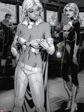 Chris Bachalo - X-Men: Curse of The Mutants - Storm & Gambit No.1: Emma Frost and Dazzler Plastové cedule