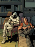 Daken: Dark Wolverine No.13 Cover: Daken and Moon Knight Sitting Plastic Sign by Giuseppe Camuncoli