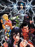 New X-Men No.20 Cover: X-23, Hellion, Dust, Mercury, Rockslide, Surge and Elixir Lifting Wall Decal by Mark Brooks