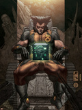 Astonishing X-Men: Ghost Boxes No.1 Cover: Wolverine Plastic Sign by Simone Bianchi