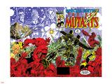New Mutants Special Edition No.1 Cover: Warlock, Wolfsbane, Magik and New Mutants Znaki plastikowe autor Arthur Adams