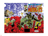 New Mutants Special Edition No.1 Cover: Warlock, Wolfsbane, Magik and New Mutants Plastic Sign by Arthur Adams