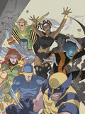 Uncanny X-Men: First Class No.4 Cover: Wolverine, Cyclops, Phoenix, Storm and Nightcrawler Plastic Sign by Roger Cruz
