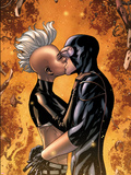 Astonishing X-Men No.44: Storm and Cyclops Kissing Plastic Sign by Mike McKone