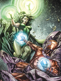 X-Men Legacy No.255 Cover: Polaris and Magneto Fighting Plastic Sign by Mico Suayan