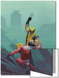 House Of M No.8 Cover: Wolverine and Magneto Poster