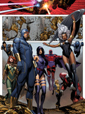 Uncanny X-Men No.4: Cyclops, Storm, Psylocke, Magneto, Hope Summers, Namor, Magik, Colossus, Danger Posters by Brandon Peterson
