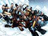 New X-Men No.45 Group: Cable, Wolverine and Caliban Plastic Sign by Humberto Ramos